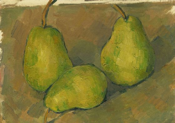 Cezanne, Paul: Three Pears. Fine Art Print/Poster. Sizes: A4/A3/A2/A1 (004225)